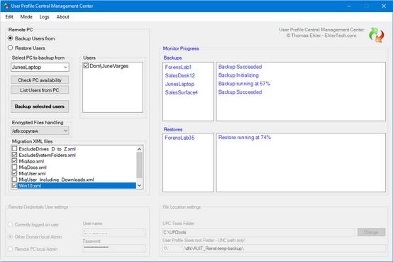 USMT GUI - Gui for MS User State Migration -